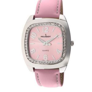 🌸Vintage Pink  Peugeot  leather watch ⌚️